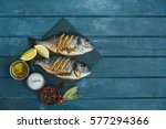 fish dish   roasted fish | Shutterstock . vector #577294366