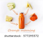 detox cleanse drink concept ... | Shutterstock . vector #577295572