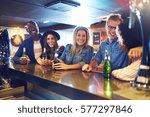 horizontal shot of a smiling... | Shutterstock . vector #577297846