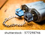 Old Big Lock With Two Keys Wit...