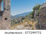ghost city kayakoy  fethiye... | Shutterstock . vector #577299772