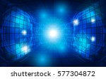 abstract technology perspective ... | Shutterstock .eps vector #577304872