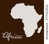 africa continent silhouette and ... | Shutterstock .eps vector #577312522