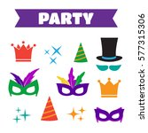 party birthday photo booth... | Shutterstock .eps vector #577315306