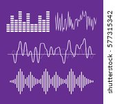 sound waves concept. sound... | Shutterstock .eps vector #577315342