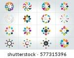mega set of 8 steps circle ... | Shutterstock .eps vector #577315396