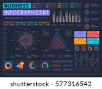 abstract infographics set with... | Shutterstock .eps vector #577316542