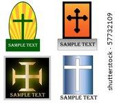 Various christian cross logos