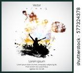 dancing people  easy editable... | Shutterstock .eps vector #577324378