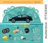 car service infographic... | Shutterstock .eps vector #577325305