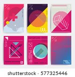 design posters set. bright... | Shutterstock .eps vector #577325446