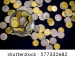 Gold And Silver Coin Close Up...