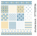 set of seamless patterns for... | Shutterstock .eps vector #577333936