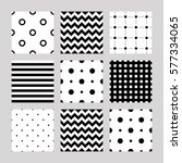 set of seamless patterns  lines ... | Shutterstock .eps vector #577334065