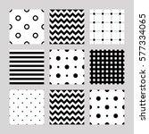 set of seamless patterns  lines ... | Shutterstock .eps vector #577334065