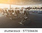 modern gym interior with... | Shutterstock . vector #577336636
