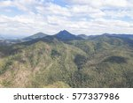 green mountain landscape in... | Shutterstock . vector #577337986