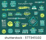 vector food labels for... | Shutterstock .eps vector #577345102