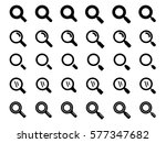 set of search icon  magnify icon | Shutterstock .eps vector #577347682