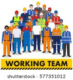 group of worker  builder and... | Shutterstock .eps vector #577351012