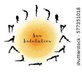 vector illustration of sun... | Shutterstock .eps vector #577351018
