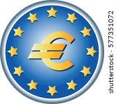 eu symbol. round emblem.... | Shutterstock .eps vector #577351072