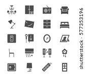 home furniture flat icons | Shutterstock .eps vector #577353196