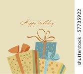 happy birthday | Shutterstock .eps vector #57735922