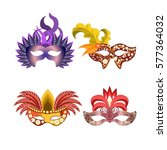 carnival masks for venetian... | Shutterstock .eps vector #577364032