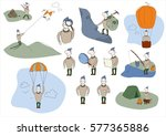 vector illustration of tourist | Shutterstock .eps vector #577365886