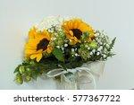 unconventional bridal bouquet | Shutterstock . vector #577367722