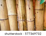Natural Bamboo Fence With Knot...