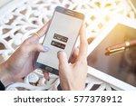 bangkok  thailand   february 12 ... | Shutterstock . vector #577378912