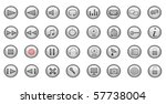 media and web icons  set. | Shutterstock .eps vector #57738004
