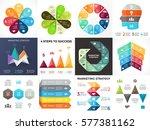 vector circle arrows... | Shutterstock .eps vector #577381162