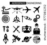 set of aerospace engineering... | Shutterstock .eps vector #577381252