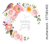 stylish floral vector round... | Shutterstock .eps vector #577381402