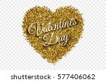 valentine's day illustration.... | Shutterstock .eps vector #577406062