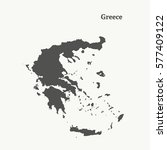 outline map of greece. isolated ... | Shutterstock .eps vector #577409122