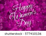 happy women's day vector...   Shutterstock .eps vector #577410136