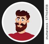 man with a beard. avatar... | Shutterstock .eps vector #577414558