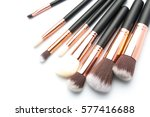 various makeup brushes isolated ... | Shutterstock . vector #577416688