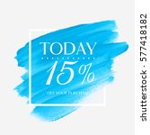 sale offer today 15  off sign...   Shutterstock .eps vector #577418182