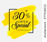 sale special offer 30  off sign ...   Shutterstock .eps vector #577418212