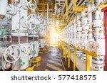 safety valves on offshore oil...   Shutterstock . vector #577418575