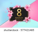 8 march modern background... | Shutterstock .eps vector #577421485