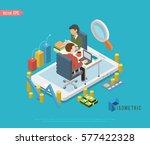 set of isometric business... | Shutterstock .eps vector #577422328