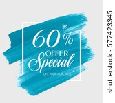 sale special offer 60  off sign ... | Shutterstock .eps vector #577423345