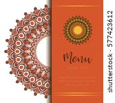 menu cover template mandalas... | Shutterstock .eps vector #577423612