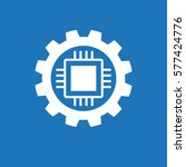 automatic process icon. gear... | Shutterstock .eps vector #577424776